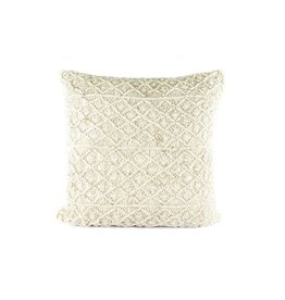 Era Pillow | Creme Linen + Gold Stencil
