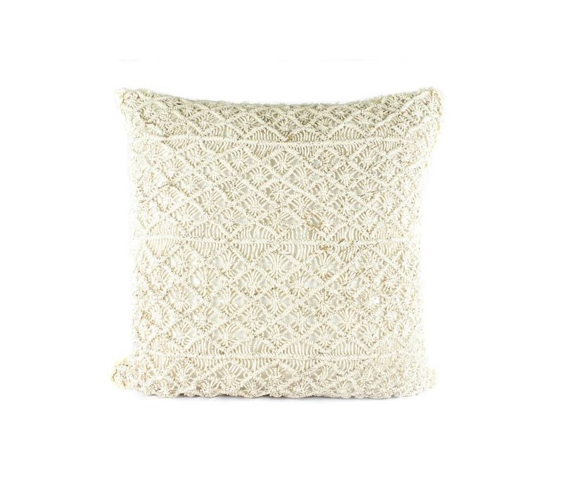 Era Pillow | Creme Linen + Gold Stencil