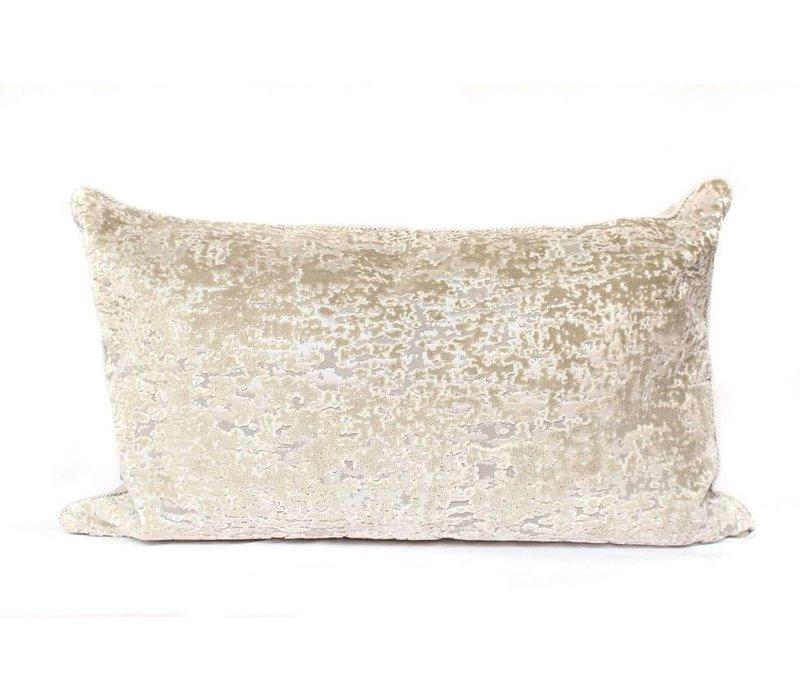Embark Pillow   Lumbar   Taupe + Velvet