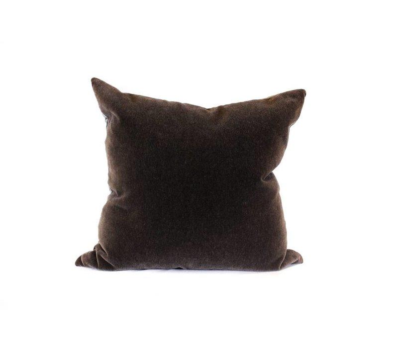 Mohair Pillow | Charcoal + Ebony