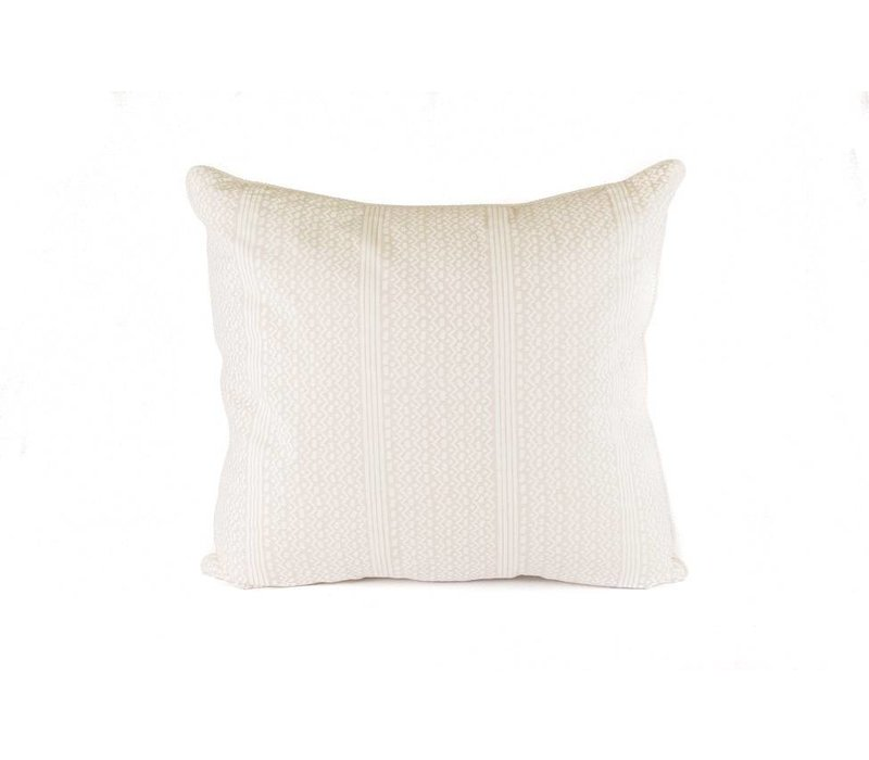 Dazzlelight Pillow | Cream + Taupe Striped