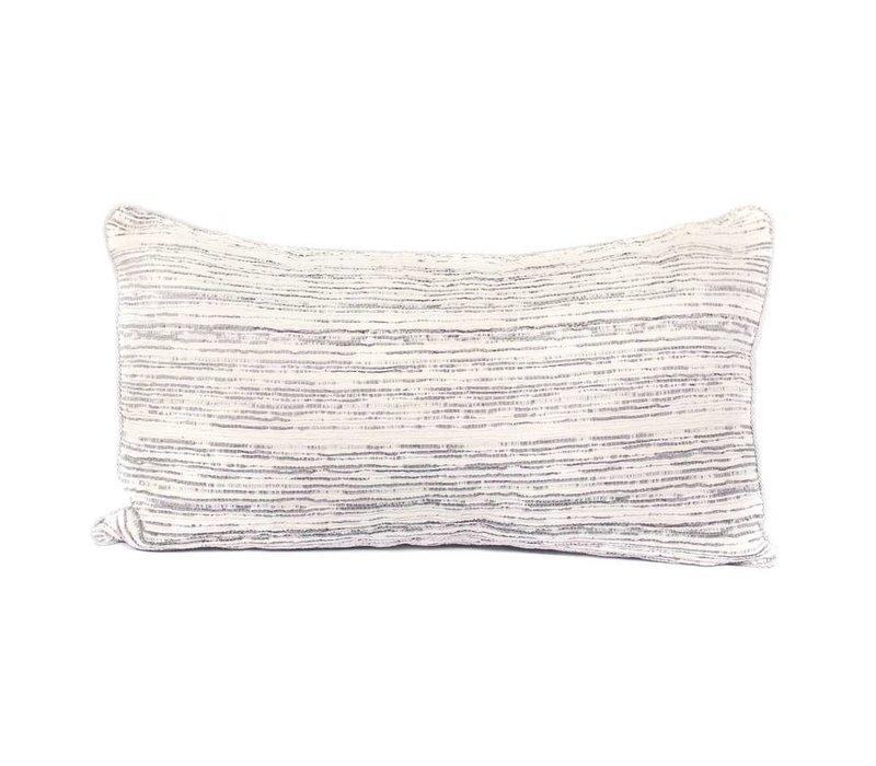 Grain Pillow | Crushed Velvet | Gray +  White