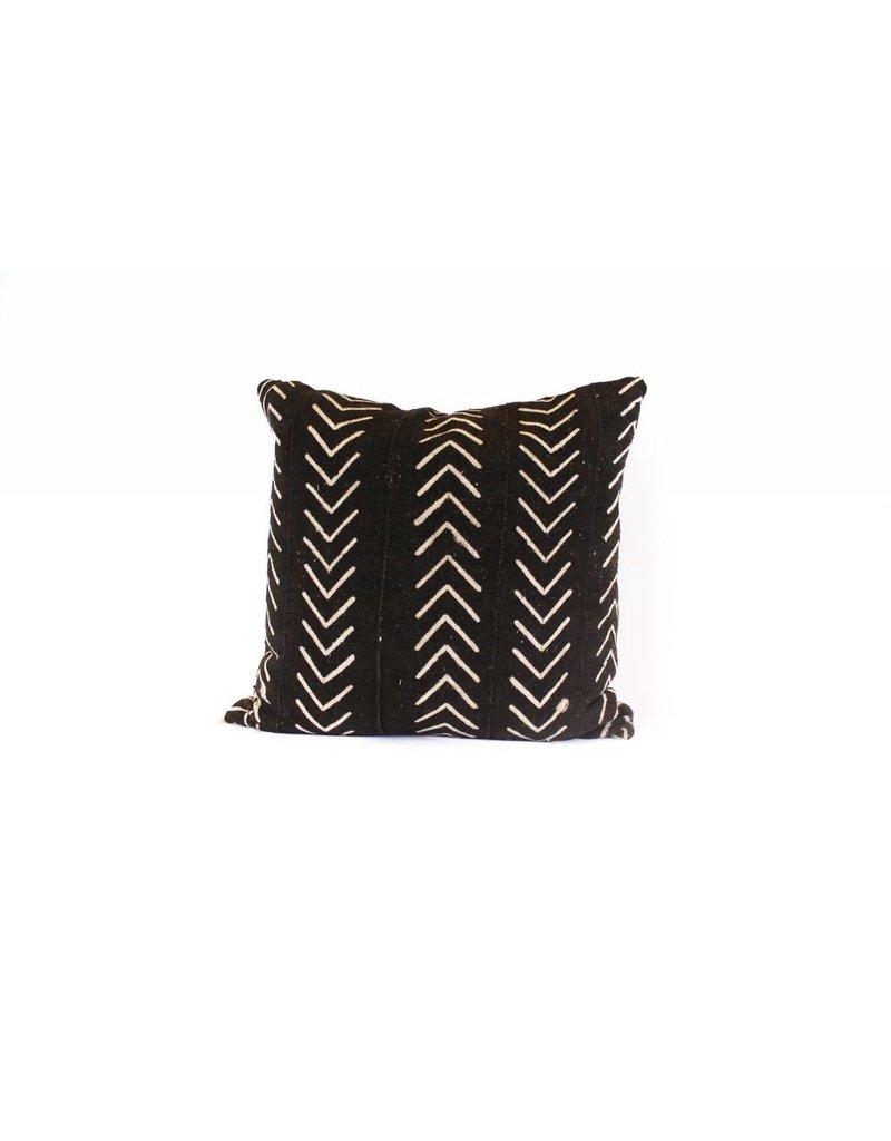 Livingston Pillow | Black + Cream Arrows