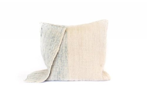 Arak Cushion | Ocean + Natural With Insert | 19 x 19
