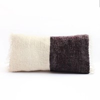 Saraka Wool Cushion | Potters Clay +  Natural | 13 x 22