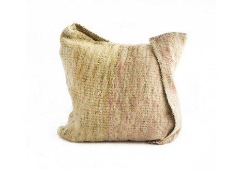 Arak Cushion | Rose + Natural +  Mustard | 19 x 19