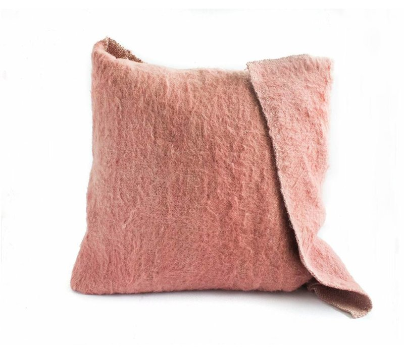 Katar Cushion | Rose +  Potters Clay | 25 x 25