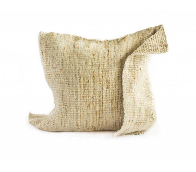 Arak Cushion | Mustard + Natural | 19 x 19