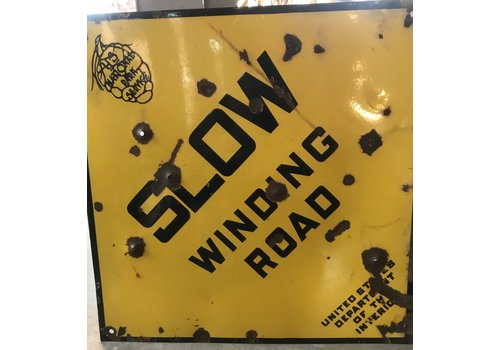 Slow Winding Road Sign