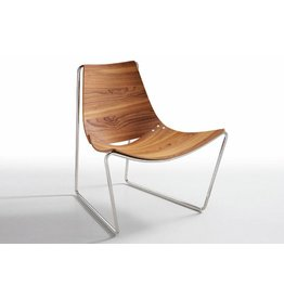 Midj | Apelle AT LG Chair | Walnut | Black Nickel Frame