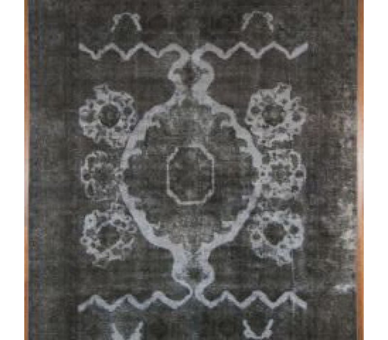 "Dark grey Overdyed Rug - 071778  9'7"" x 12'5"""