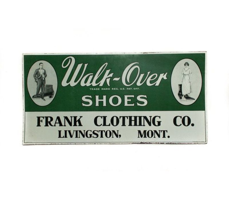 Walk On Over Tin Sign *CS