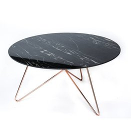 Link Table   Copper + Ceramic Travertine