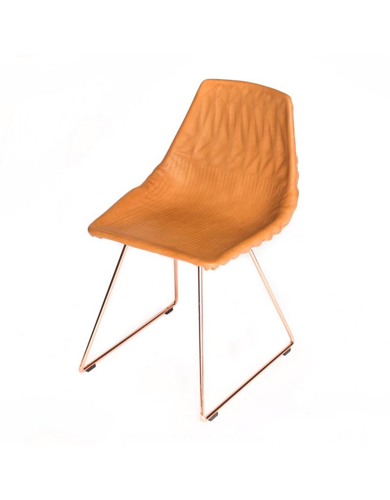 Lucy Side Chair   Leather Saddle