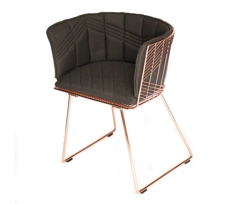 Captain Chair Copper | Gray Cover