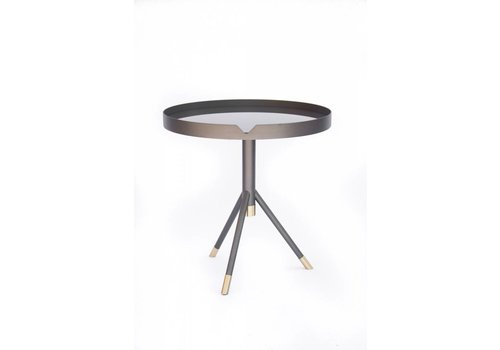 Chrome Side Table | Graphite