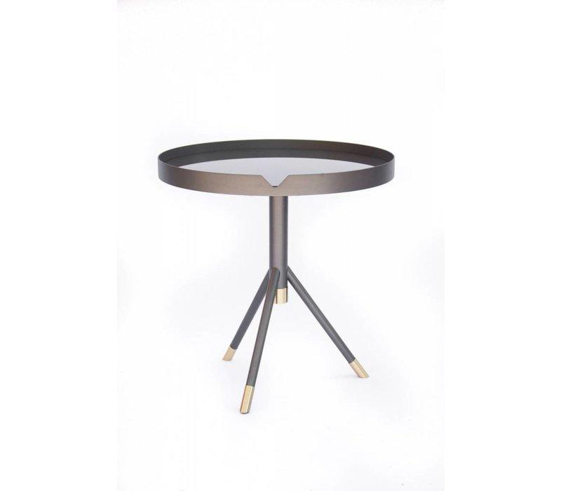 Chrome Side Table | Graphite