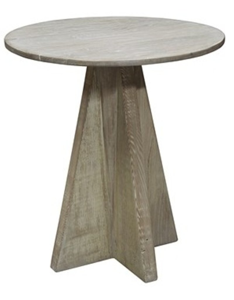 Oak Side Table | Brown Antique Finish