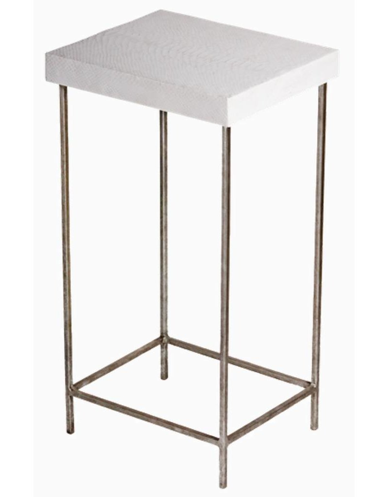 Reagan Side Table Gold | White Snake Skin