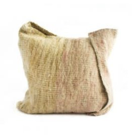 Arak Cushion | Rose + Natural w insert | 19 x19
