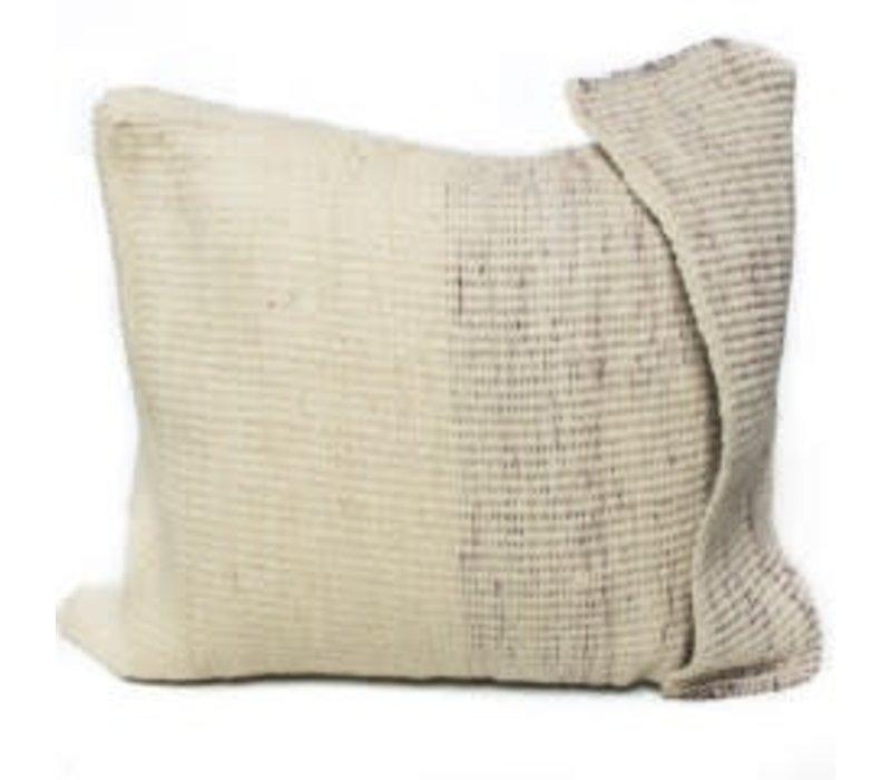 Arak Cushion | Potters Clay + Natural w insert| 19 x 19