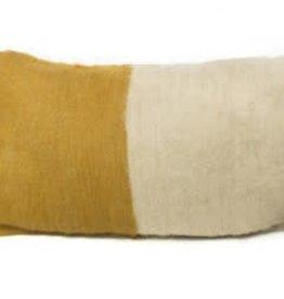 Saraka Wool Cushion | Mustard + Natural w insert| 13 x 22