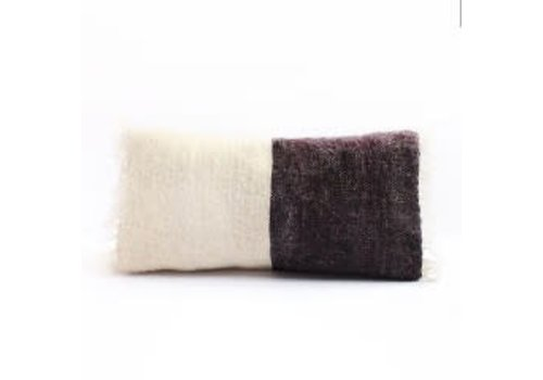 Saraka Wool Cushion   Potters Clay +  Natural w insert   13 x 22