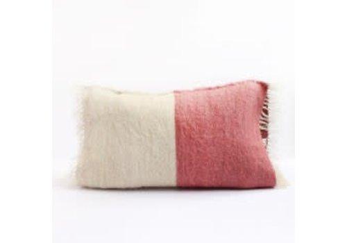 Saraka Wool Cushion   Rose + Natural w insert   13 x 22