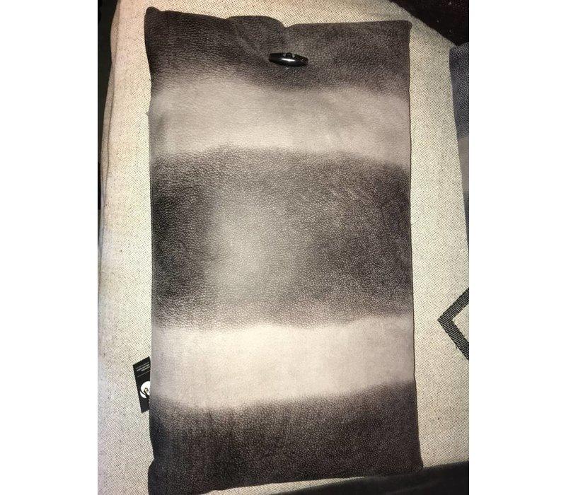 Gamma | Marilyn Leather Pillow Grigio Chiaro