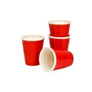 4 Mini Red Cup shot glasses 2oz
