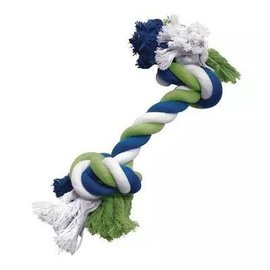 Dogit Dogit Blue/Lime/White Large Cotton Rope Bone