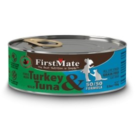 FirstMate FirstMate 50/50 Free Rng. Turkey/Wild Tuna - 5.5 oz Can