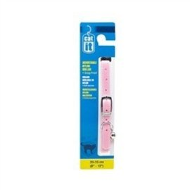 "Catit Catit Adjustable Nylon Collar, 8""-13"", pink"