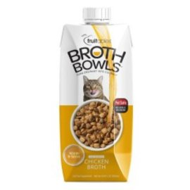 Fruitables Fruitables Broth Bowls Cat Chicken - 16.9oz