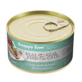 Snappy Tom Snappy Tom Lites Tuna w/ Salmon - 156g Can