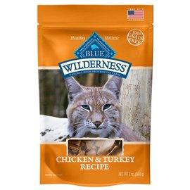 Blue Buffalo Blue Wilderness Cat Treats Chicken & Turkey 2oz