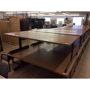 "48x84x29"" Wood top library table w/metal frame"
