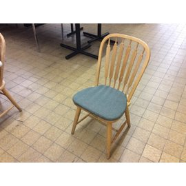 Green padded wood Kitchen Chair