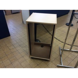 "20x20 3/4x40"" Stereo cabinet w/glass door"