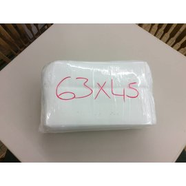 45x63 White table cloths - used (20pk)