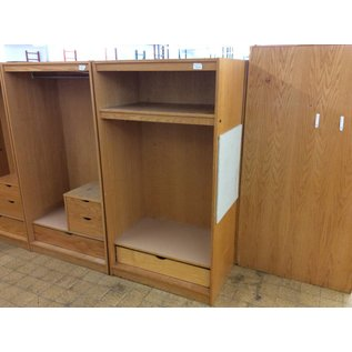 """24x36x72"""" Wood wardrobe w/1 drawer & 1 shelf (7/10/18)"""