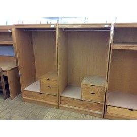 """24x36x68 1/4"""" Wood Wardrobe w/three drawers"""