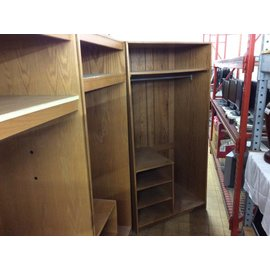 "24x36x72"" Wood wardrobe w/5 shelves"