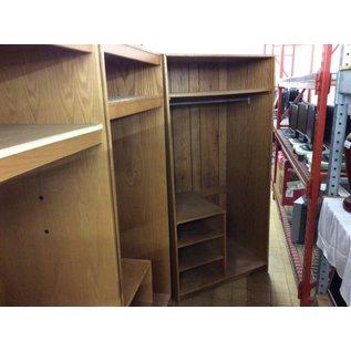 "24x36x72"" Wood wardrobe w/5 shelves"
