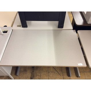 30x48 Lt gray wood top computer table