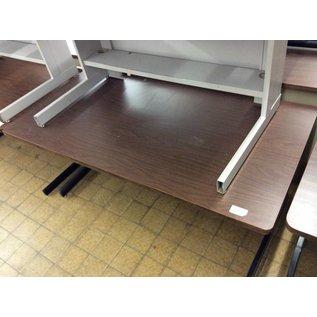 "30x60x27"" Wood top computer table"