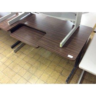 30x60x30 1/4 Computer Table w/drop-down keyboard tray