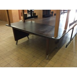"36x76x29"" Brown steelcase table"