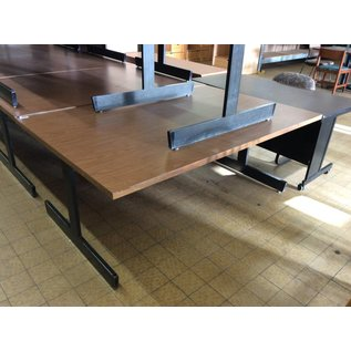 "48x72x29""  Wood top library table w/metal frame"