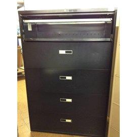 18x42x65 Black metal 5 drawer lateral file